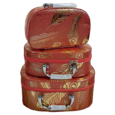 Women's Maroon 3 Piece Jewellery Box