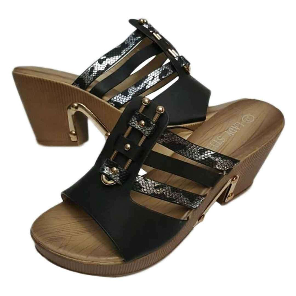 Lady Style Black & Silver Sandal for Women