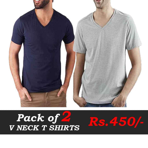 Pack Of Two V Neck T Shirts Deal 1