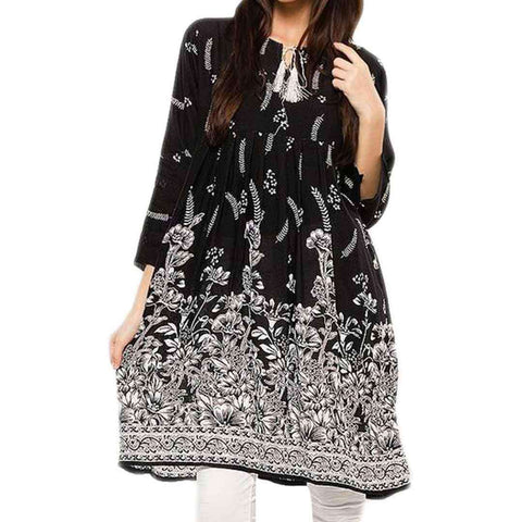 Black & White Lawn Kurti for Women