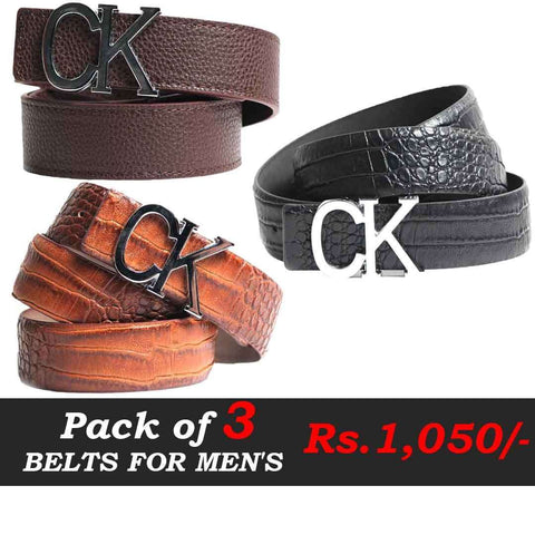 Pack Of Three Belts Deal  1