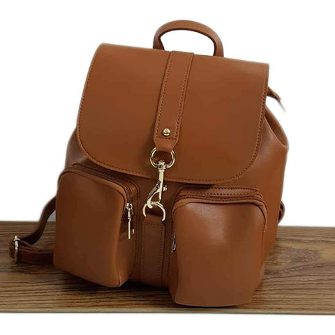 Women's Bold Look Brown Leather Bags