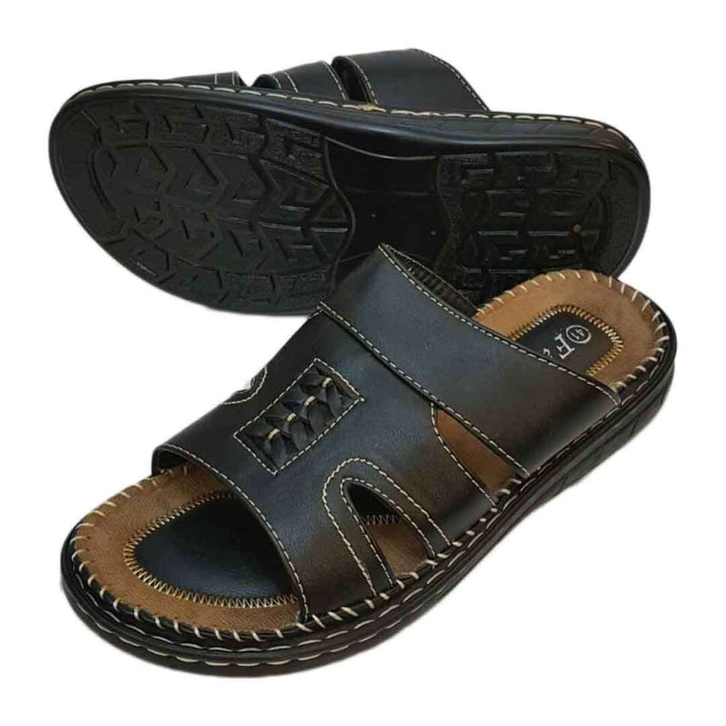Black Casual Slippers for Men