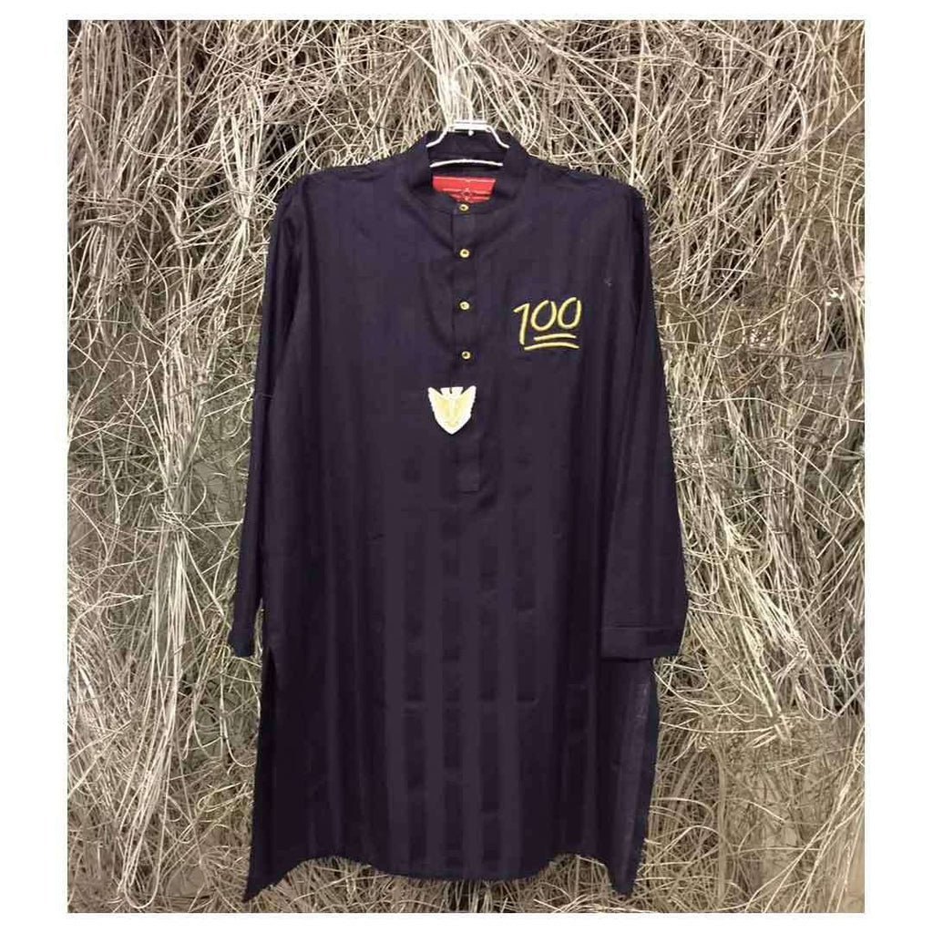 Black Designer wear Stylish Kurta for Men