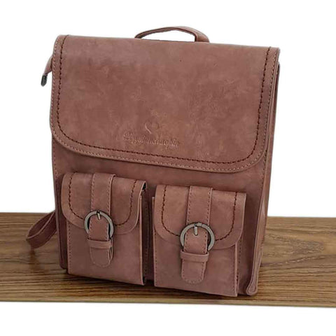 Women's Standard Designed Brown Leather Satchel Bags