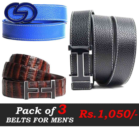 Pack Of Three Belts Deal  3