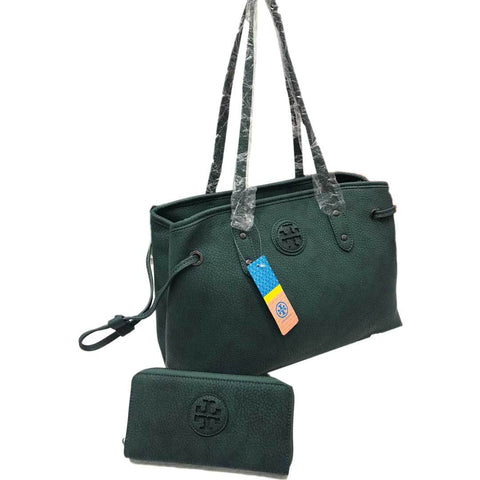 Green Tory Burch Women's Handbag With Pouch