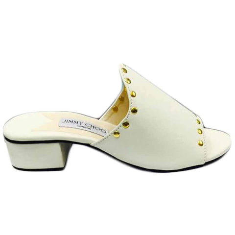 Women's White Mules