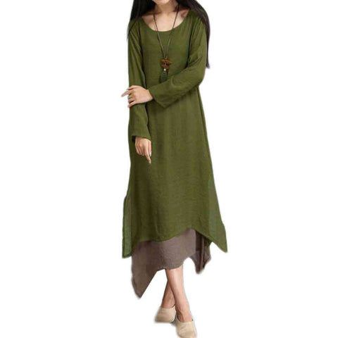 Women's Green Long Lilan Kurti