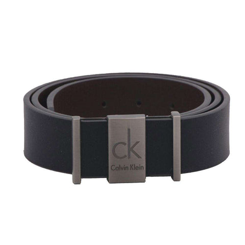 Men's Leather Black Buckle Belt