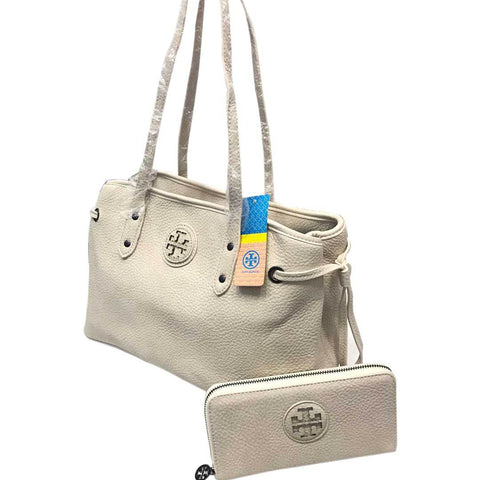 White Tory Burch Women's Handbag With Pouch