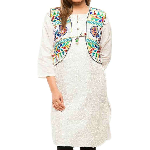 Multicolour Lawn Casual Digital Printed Cotty For Women's