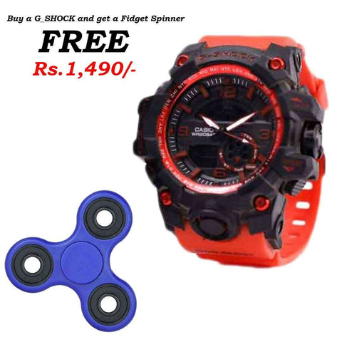 G_Shock Orange Watch with Free Spinner