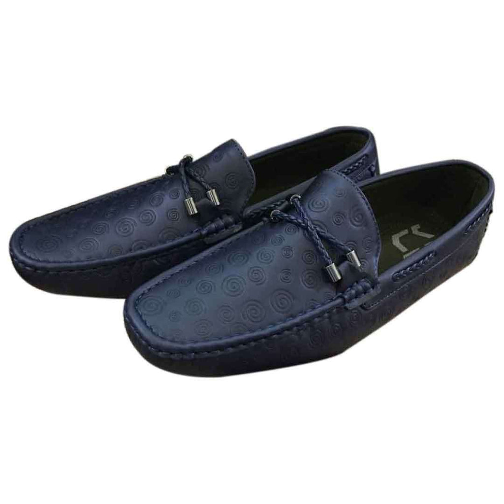 Men's Casual Lace Loafers Dark Blue