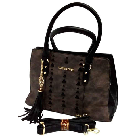 Women's Lace Lore Black Satchel Handbag