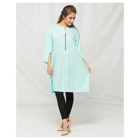 Self Print Ferozi Kurti For Women