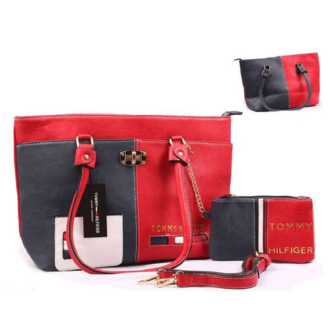 Women's Blue & Red With Pouch Handbag