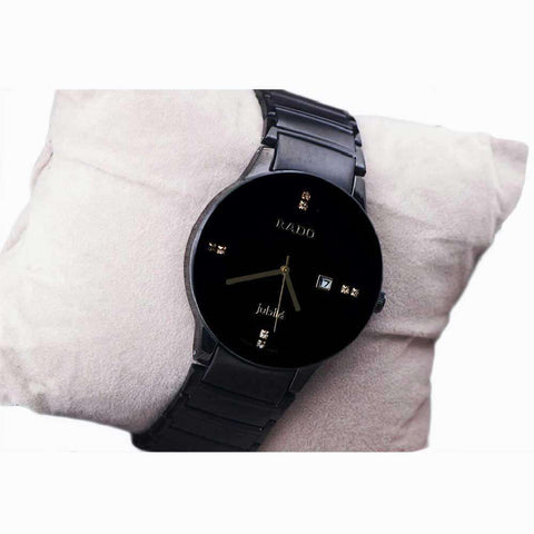 Full Black Round Dial Watch For Men