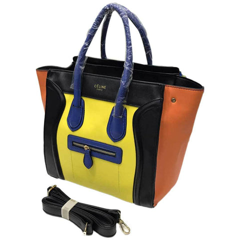 Women's Yellow Satchel Handbag