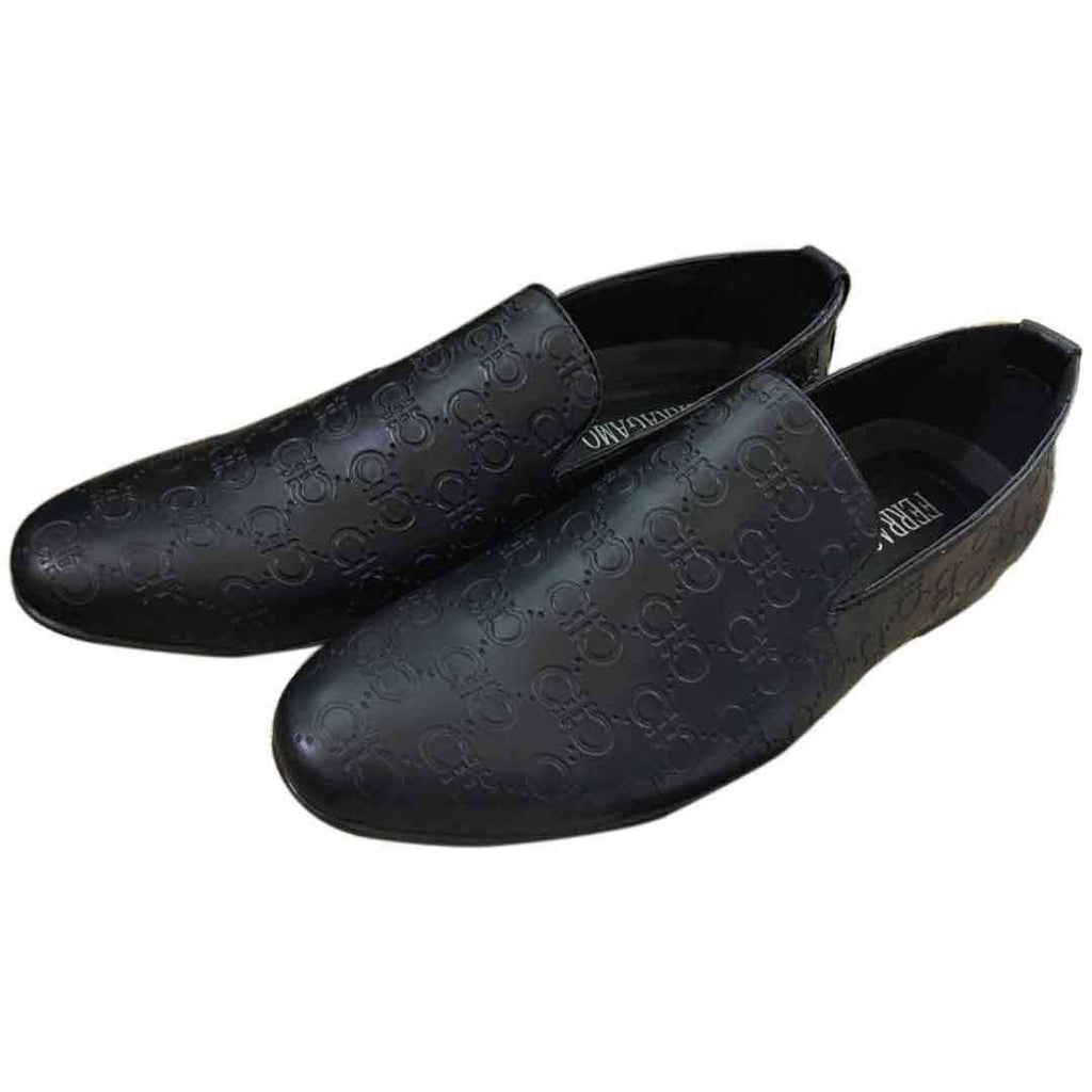 Black Leather Stylish Loafer Shoes for Men's