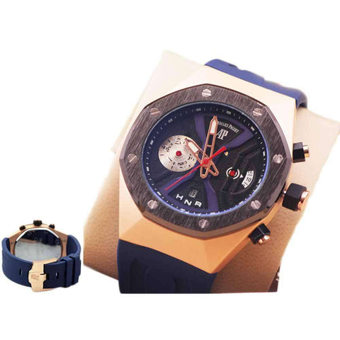 AP Blue Rubber Strap Watch