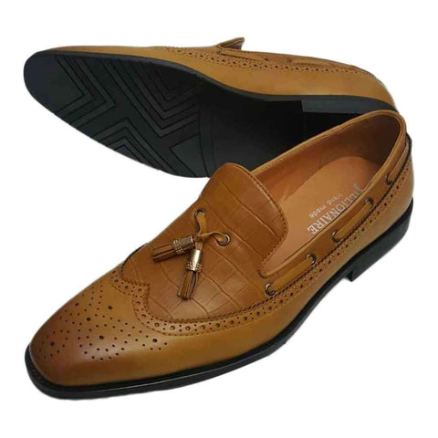 Camel leather Italian Billionaire Shoes