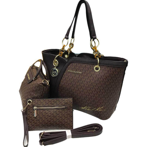 Women's Brown & Black Mk Handbag