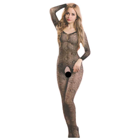 Women's Lingerie Fishnet  Black Stocking