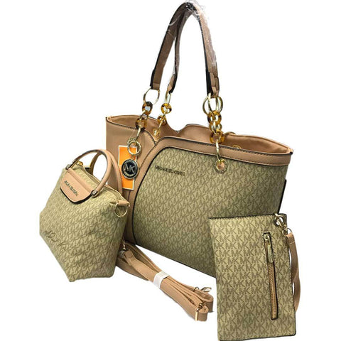 Golden Leather Ladies Mk Hand Bag