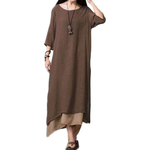 Women's Brown Long Lilan Kurti