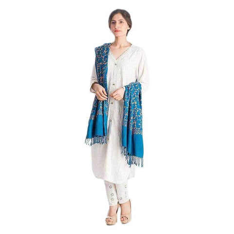 Blue Woolen Shawl For Women