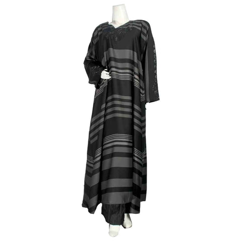 Abaya lining design Aparels Maxi Black & Grey For Ladies