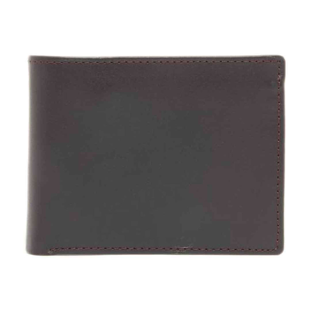 Amaze Dark Brown Cow Leather Wallet RIZ W 17