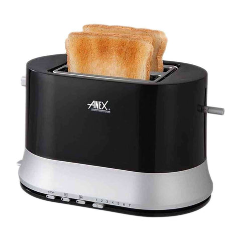 Anex AG 3017   Deluxe 2 Slice Toaster   Black
