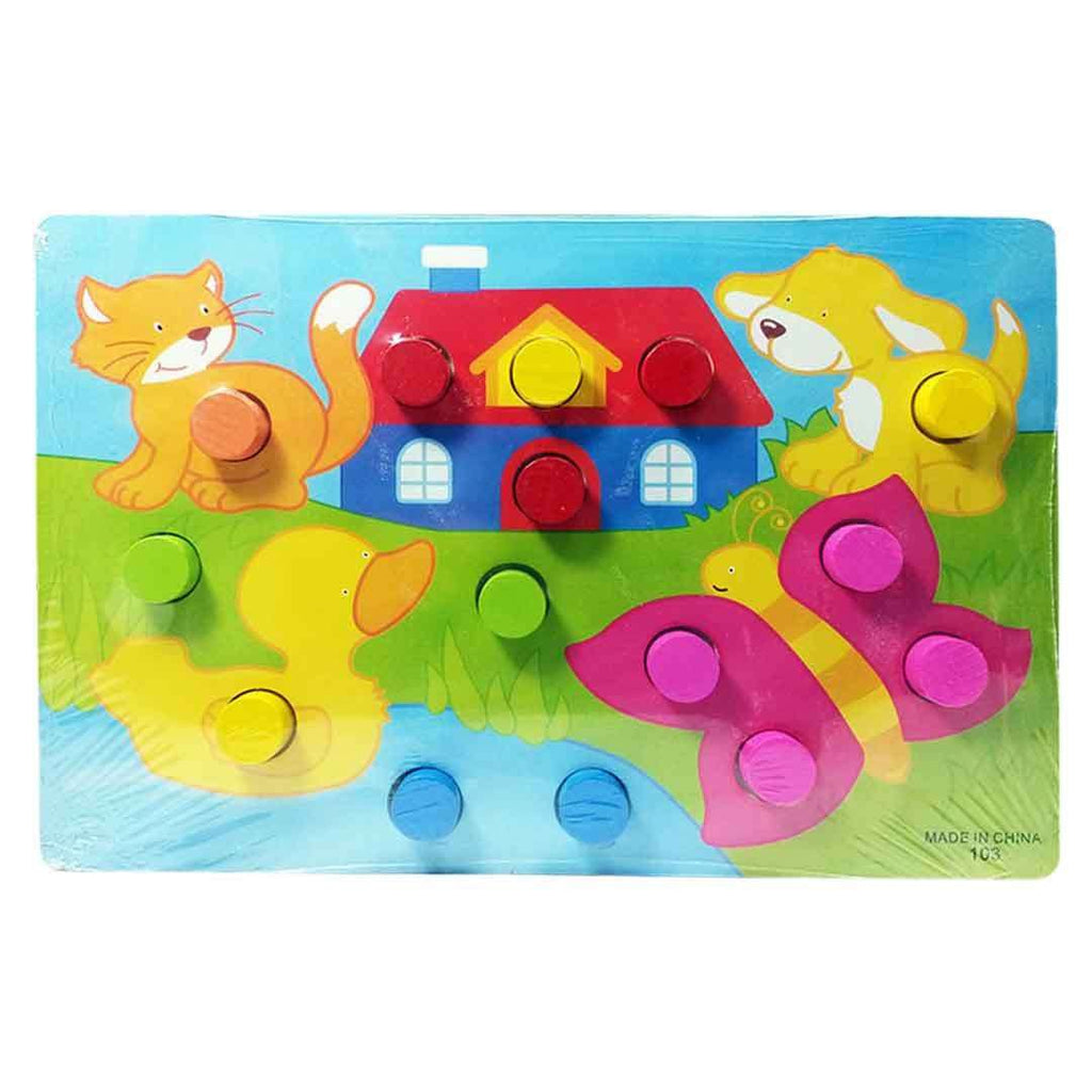 Button Board Animal And House