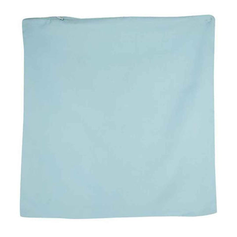 Sea Blue Solid Stain Cushion Cover