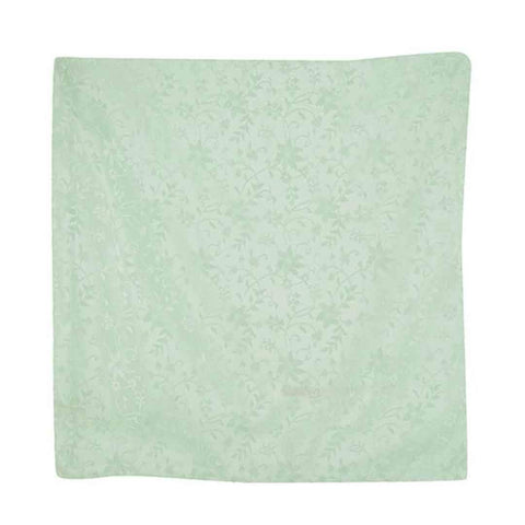 Green Flower Solid Stain Cushion Cover