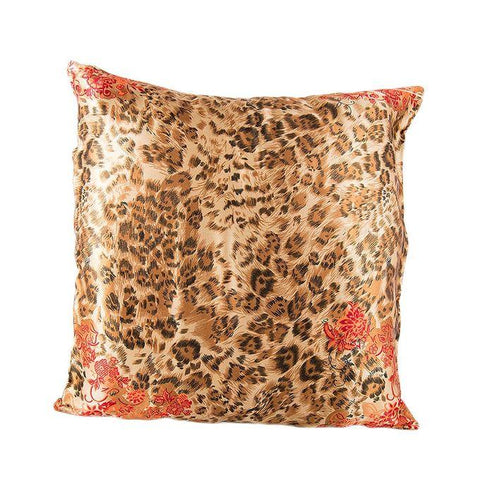 Leopard Printed Silk Coshion Cover