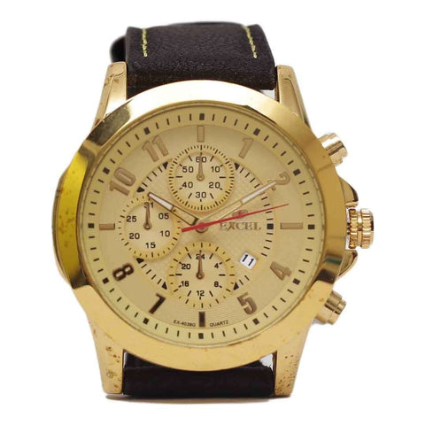 Golden Excel Watch For Men