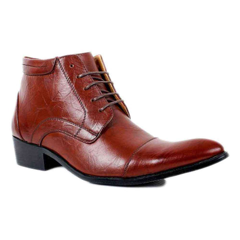 Cowboy Brown Lace Up Shoes For Men