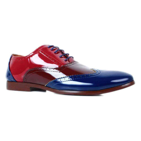 Men's Fitfoot Blue & Brown Formal New Style Shoes