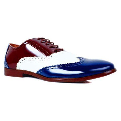 Fitfoot  Blue & Brown Formal Shoes For Men
