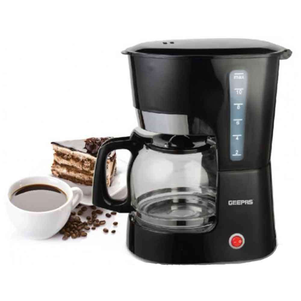 Geepas Espresso Cappuccino Coffee Maker - Black