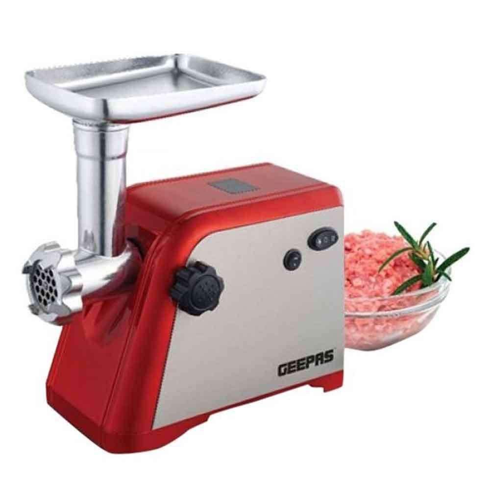 Geepas Stainless Steel Meat Grinder - Red