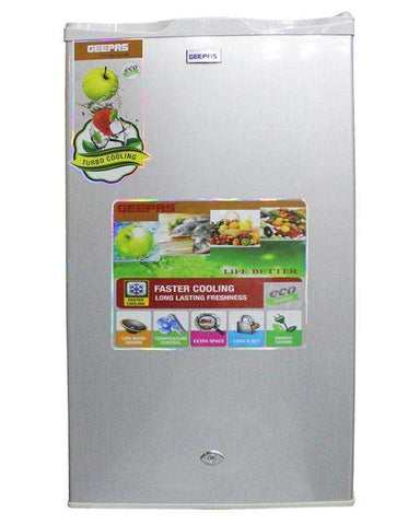 Geepas Single Door Fridge & Mini Refrigerator Grey