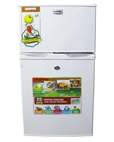 Geepas Double Door Refrigerator White