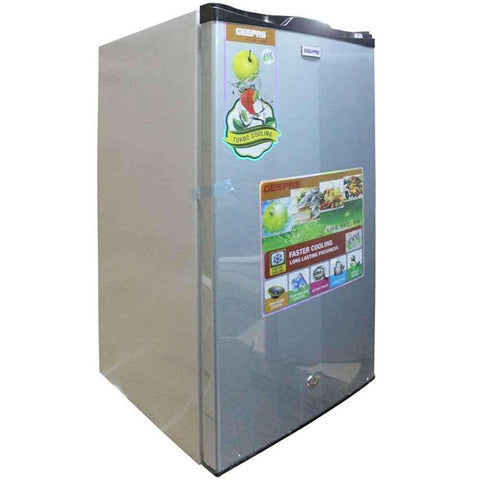 Geepas Single Door Mini Refrigerator Grey