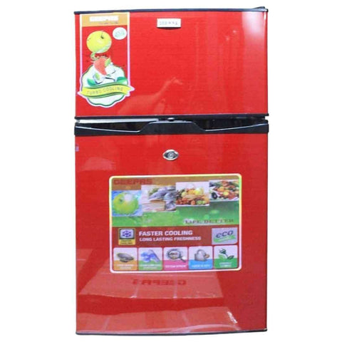 Geepas Double Door Refrigerator  GRF 6035 Red
