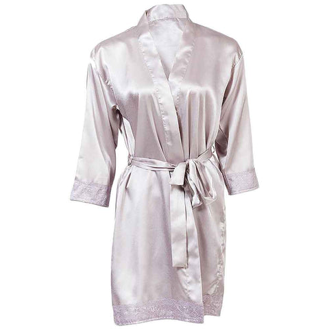 Women's Silver Lace Robe Gown