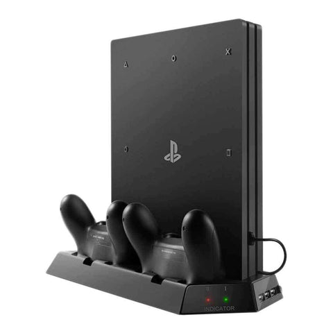 PS4 Pro Vertical Stand with Charging Station for Controllers